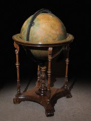 Grand Scale Terrestrial Library Globe by Kittinger, Circa 1930 image 3