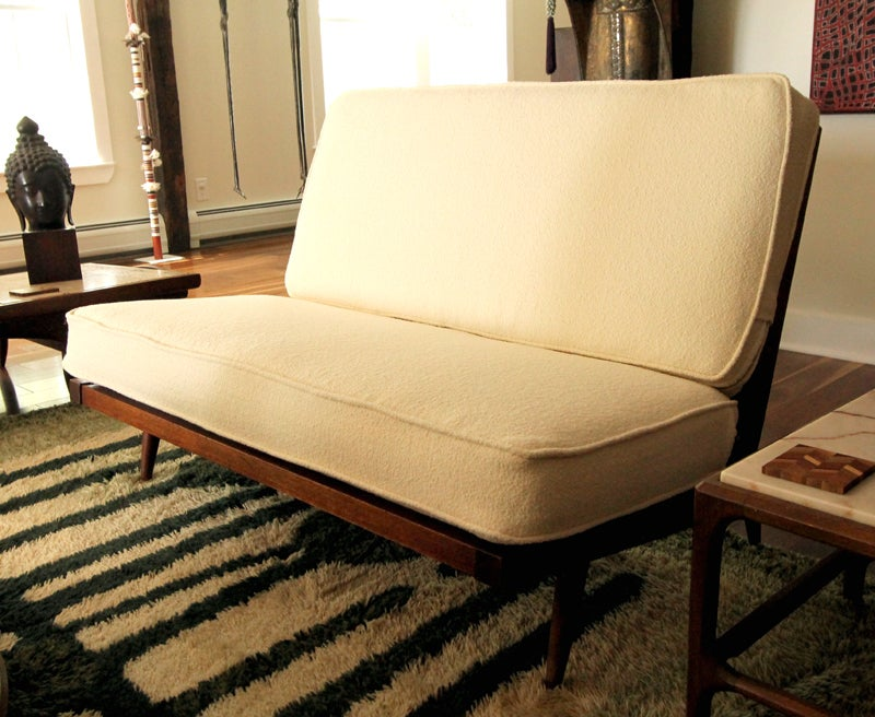 Cushions on Settee Settee Sofa With Cushions