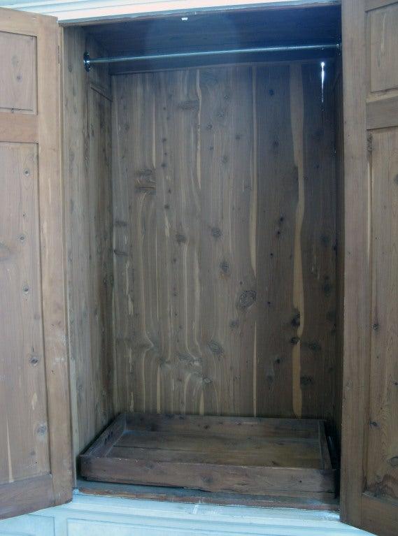 Antique Custom Cedar Lined Freestanding Armoire Closet At