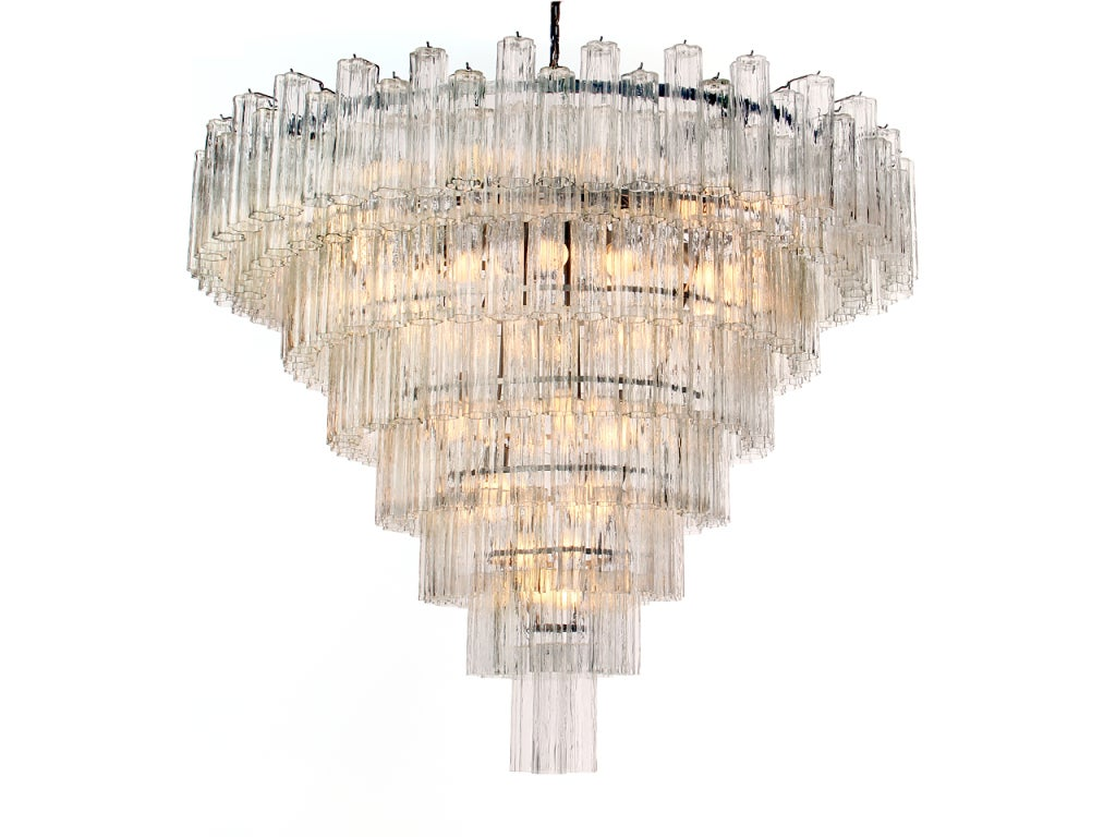 Monumental venini eight tiered chandelier at 1stdibs monumental venini eight tiered chandelier 2 arubaitofo Image collections