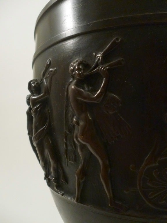 "Pair French Bronze Urns after the ""Sosibios Vase"" as Lamps image 10"
