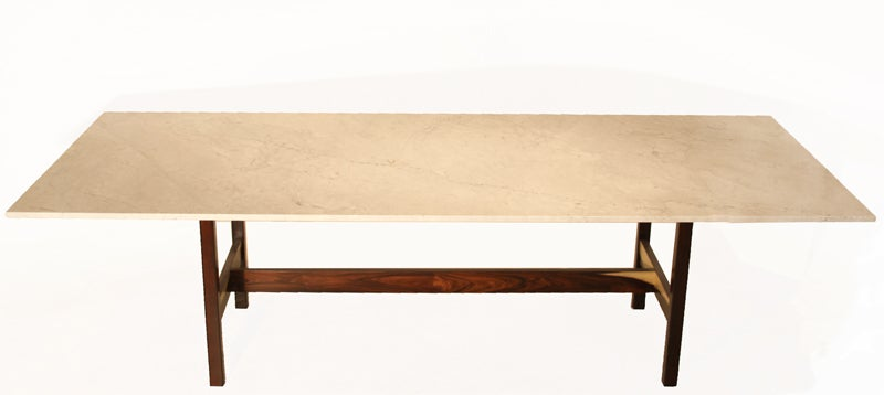 Solid Marble Dining Table Rosewood And White