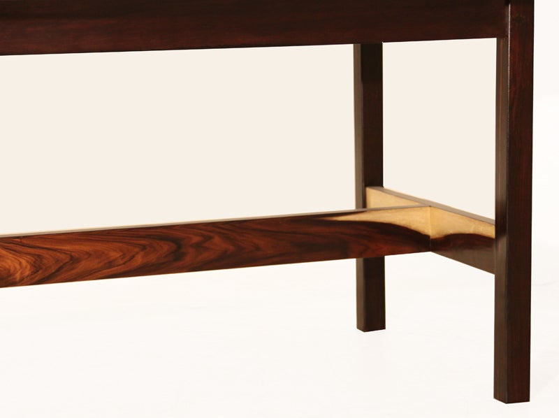 Solid Rosewood And White Carerra Marble Dining Table At 1stdibs