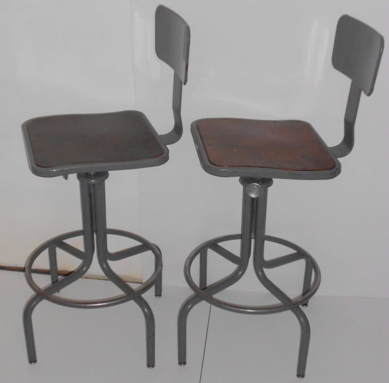 Industrial Counter Stool one left with Adjustable Height  : 923513461920553 from www.1stdibs.com size 800 x 786 jpeg 43kB