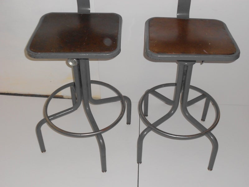 Industrial Counter Stool one left with Adjustable Height  : 923513461920556 from www.1stdibs.com size 800 x 600 jpeg 41kB