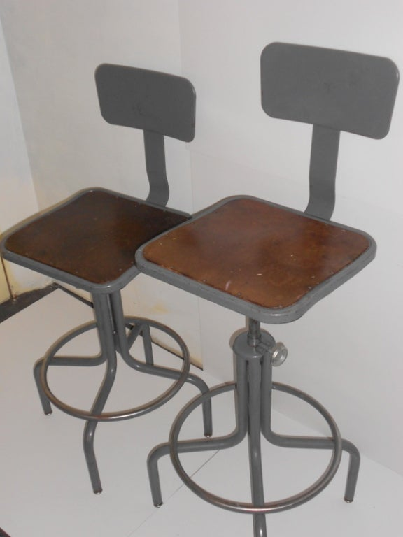 Industrial Counter Stool One Left With Adjustable Height