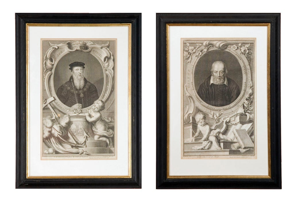 Set of four 18th century prints of English Earls.
