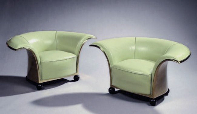 Pair of Spectacular French Art Deco Armchairs For Sale 4