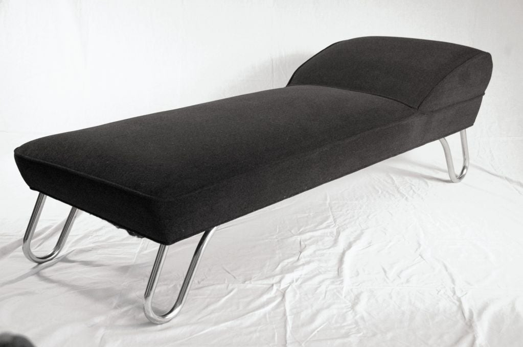 art deco chaise lounge by lloyd loom at 1stdibs. Black Bedroom Furniture Sets. Home Design Ideas
