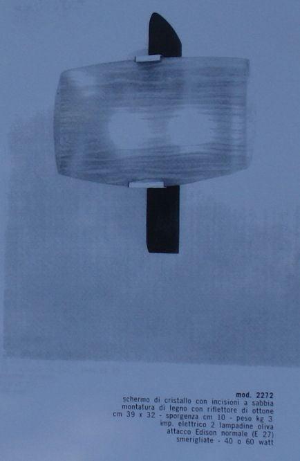 Rare Wall Sconce by Fontana Arte For Sale 6