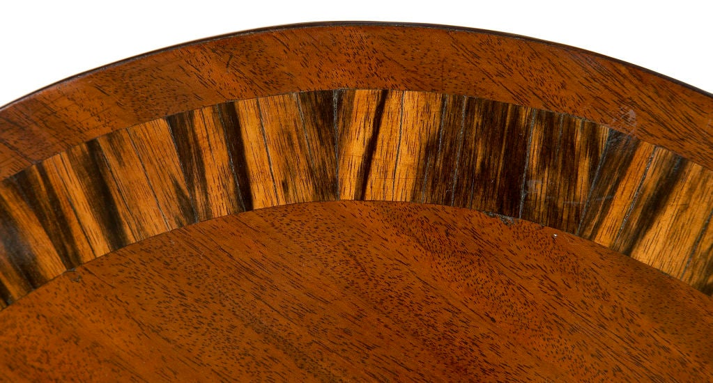 Regency Mahogany Breakfast Table In Excellent Condition For Sale In New York, NY