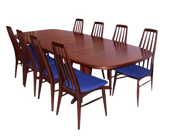 Danish Rosewood Dining Table With Eight Chairs 8