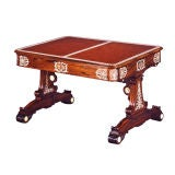 An Unusual George Iv Ivory-inlaid Double-sided Library Table