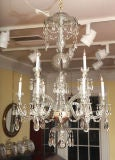 Georgian cut glass chandelier c.1770 image 2