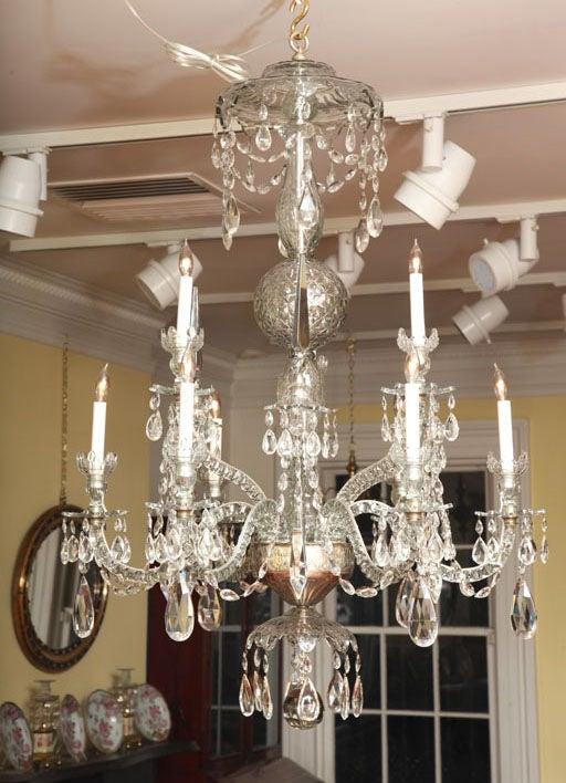 Georgian cut glass chandelier c.1770 2