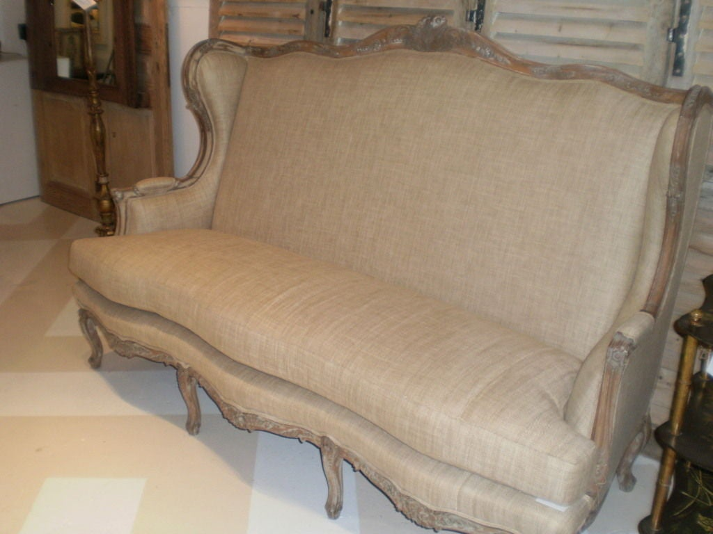 19th Century French Louis XV Style Canapé or Sofa For Sale 3