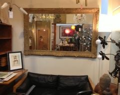 Large Mirror with Elaborate Vintage Gilt Wood Frame image 8