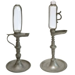 Pair of Antique French Oil Lamps