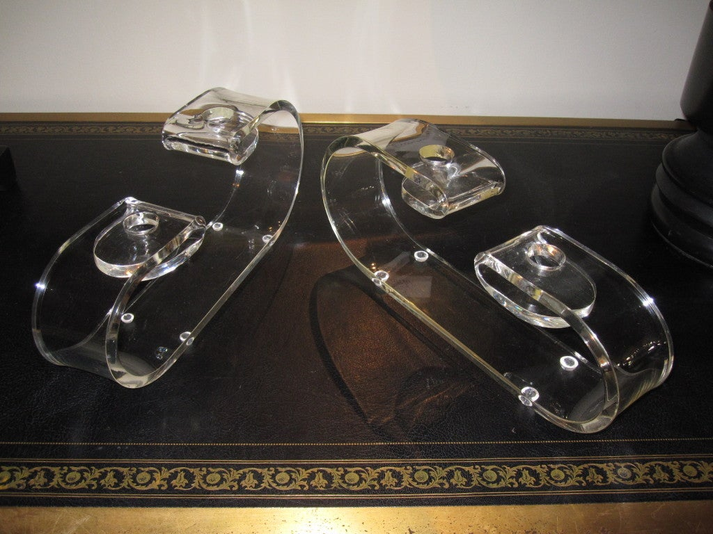 Pair of Dorothy Thorpe Candleholders For Sale 1