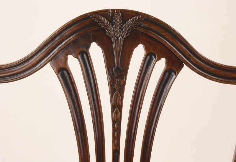English Antique Georgian Mahogany 18th Century Armchair For Sale