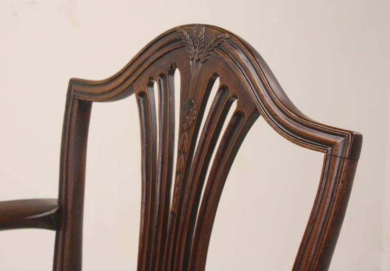 Early 19th Century Antique Georgian Mahogany 18th Century Armchair For Sale