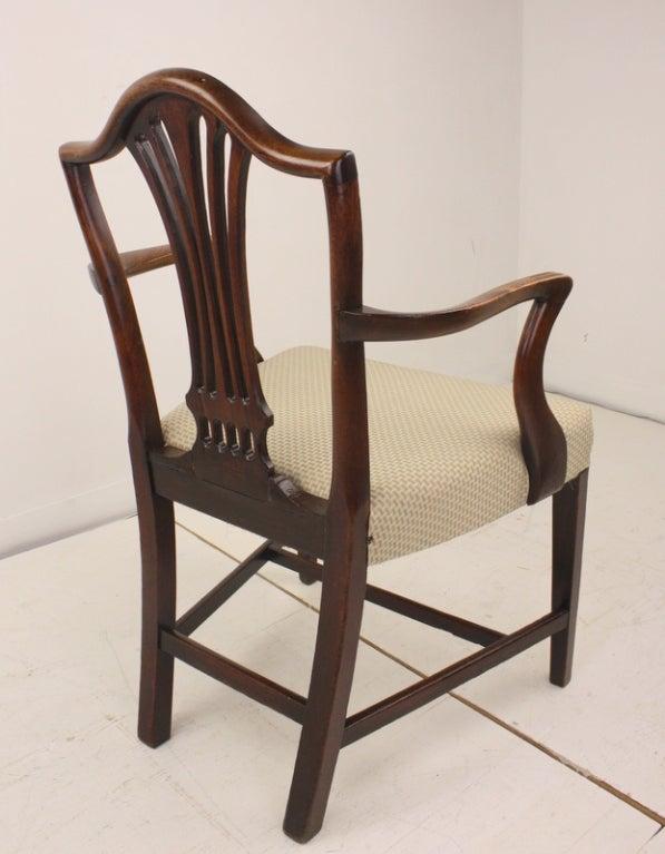 Antique Georgian Mahogany 18th Century Armchair For Sale 2