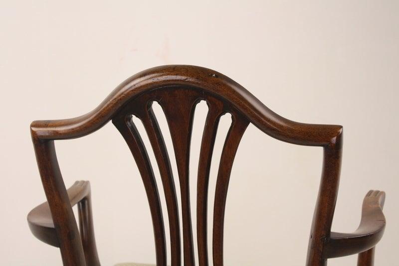 Antique Georgian Mahogany 18th Century Armchair For Sale 3