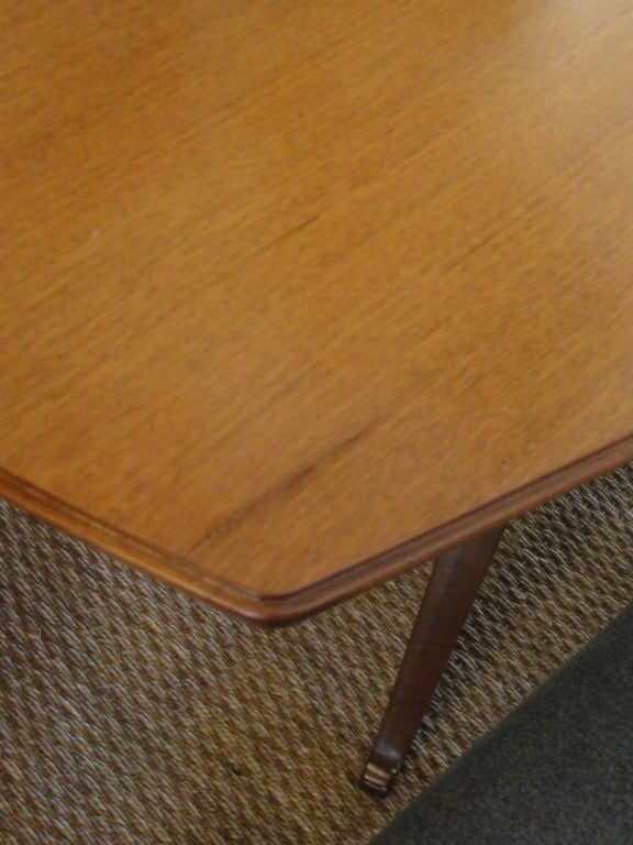 Sculptural Italian Walnut Dining Table For Sale 1