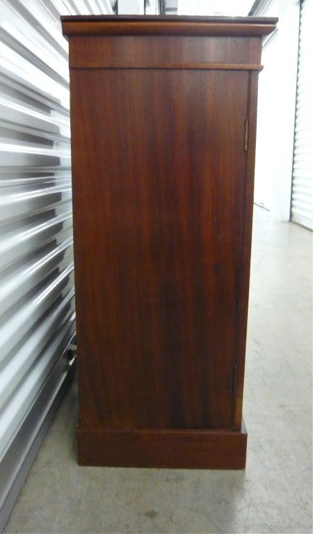 Mahogany Bathroom Floor Cabinet : English mahogany double door floor cabinet at stdibs