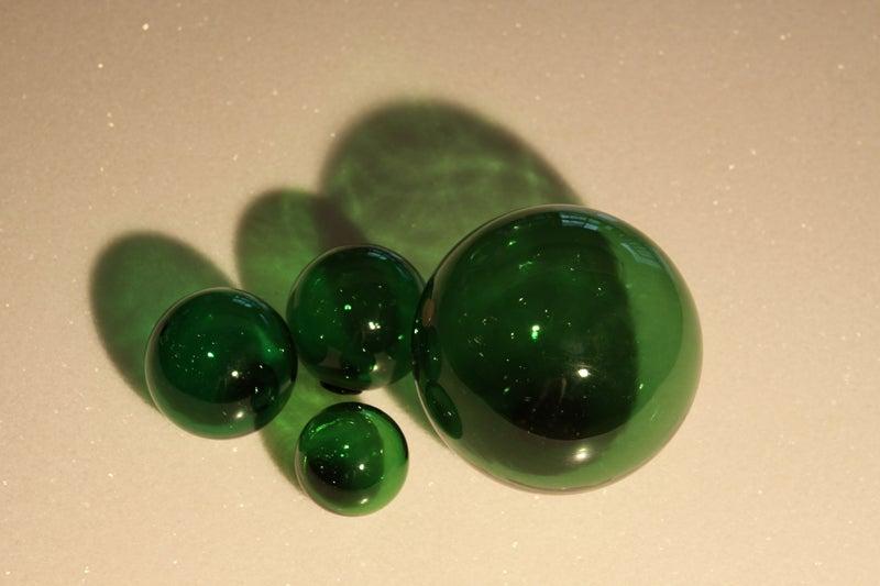 Set of blenko decorative glass balls at stdibs