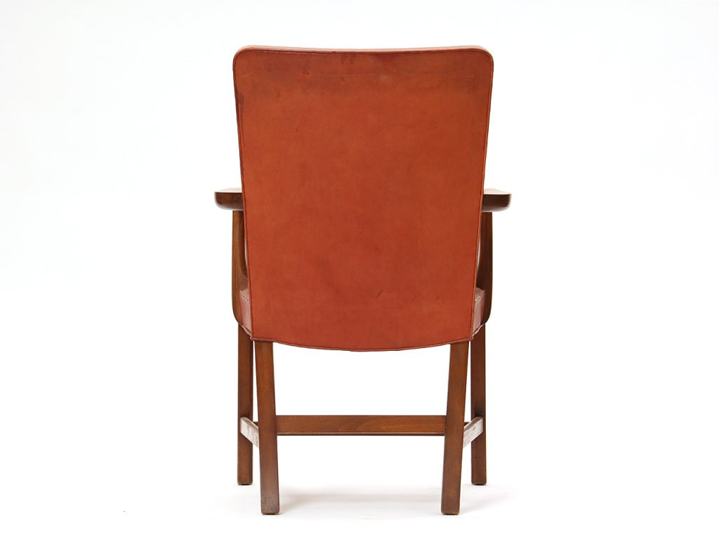 Mid-20th Century High Back Barcelona Chair by Kaare Klint for Rud Rasmussen For Sale