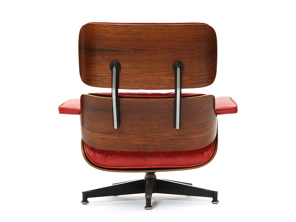 red lounge chair by charles and ray eames at 1stdibs