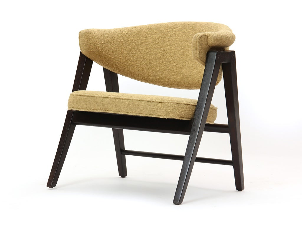 Mid-Century Modern 'A' Frame Armchairs by Edward Wormley For Sale