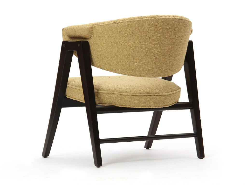 'A' Frame Armchairs by Edward Wormley In Good Condition For Sale In New York, NY