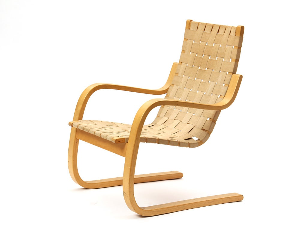 Lounge chair by alvar aalto for sale at 1stdibs for Alvar aalto chaise