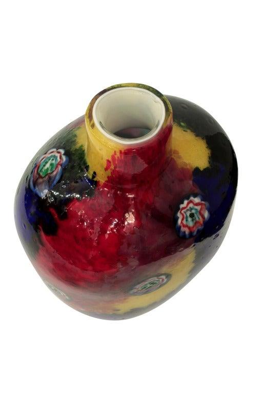 Italian Handblown Glass Vase by Arte Vetraria Muranese 'A.V.E.M' For Sale