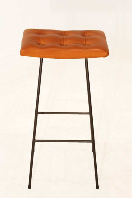 The Curved Bunda Stool w tufted leather seat by Thomas  : 888513474034052 from www.1stdibs.com size 433 x 651 jpeg 18kB