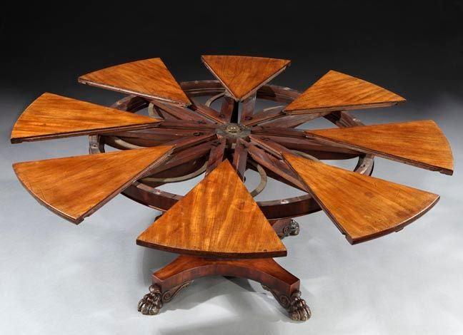Circular Mahogany Expanding Jupe Table At 1stdibs