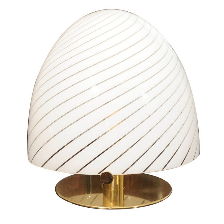 1960 39 s murano blown glass dome table lamp at 1stdibs. Black Bedroom Furniture Sets. Home Design Ideas