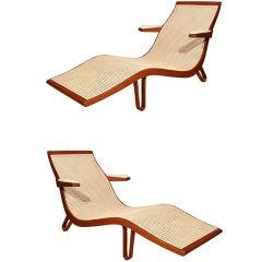 Edward Wormley Pair of Chaise Longues, 1957