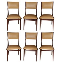 Set of Six Carlo di Carli 1950's Dining Chairs
