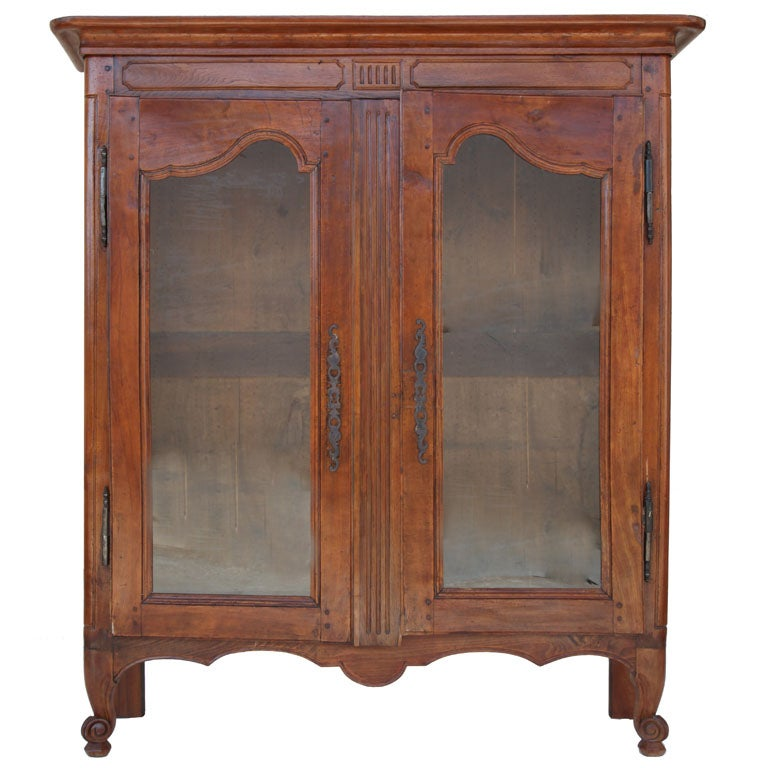 French Provincial Oak & Beechwood Cabinet For Sale
