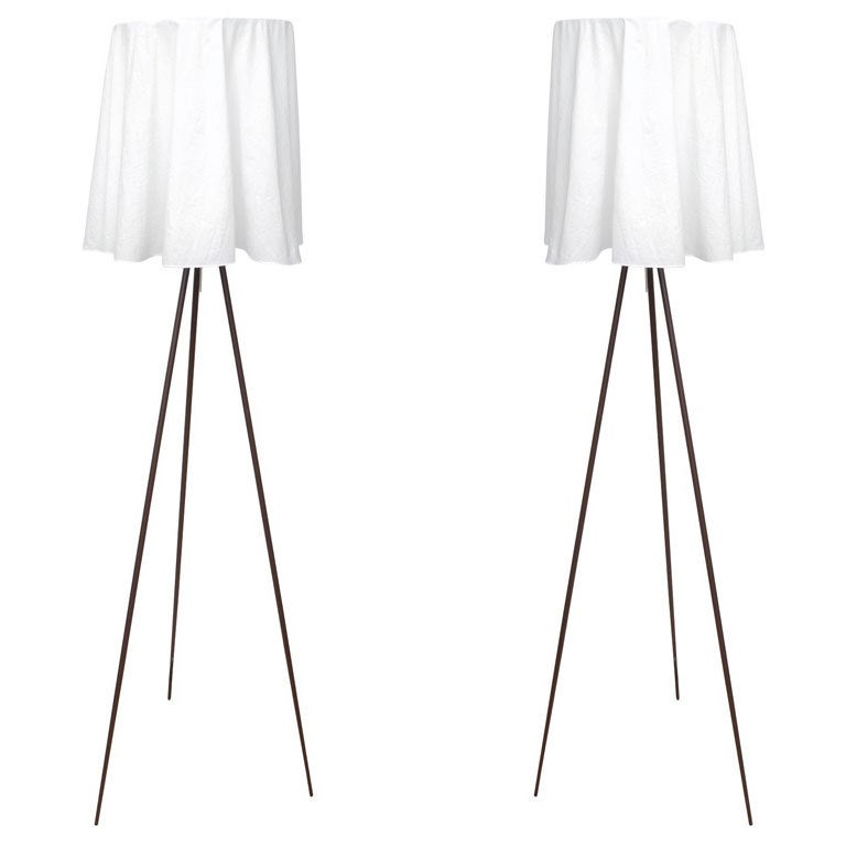 pair of rosy angelis floor lamps by philippe starck for. Black Bedroom Furniture Sets. Home Design Ideas