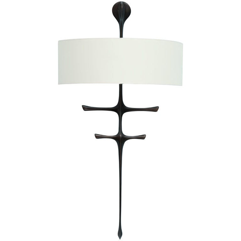 """Yali"" Sculptural Wall Sconce by Alexandre Logé"