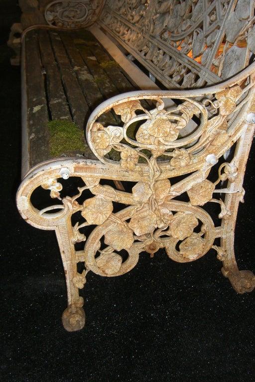 "Rare Coalbrookdale ""Nasturtium"" Pattern Cast Iron Garden Bench image 6"