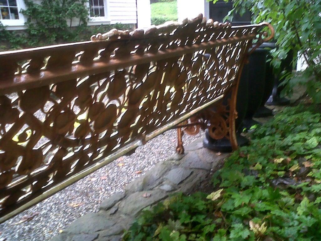 "Rare Coalbrookdale ""Nasturtium"" Pattern Cast Iron Garden Bench image 8"