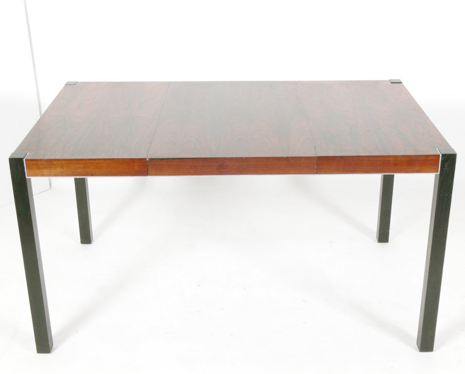 Rosewood dining table seats 4 8 people at 1stdibs for Dining room tables 8 seats
