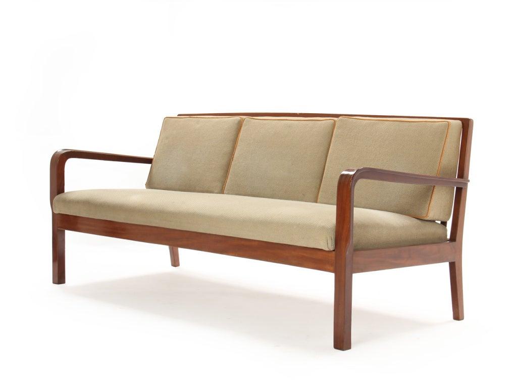Slat-Back Sofa by Kindt-Larsen 3