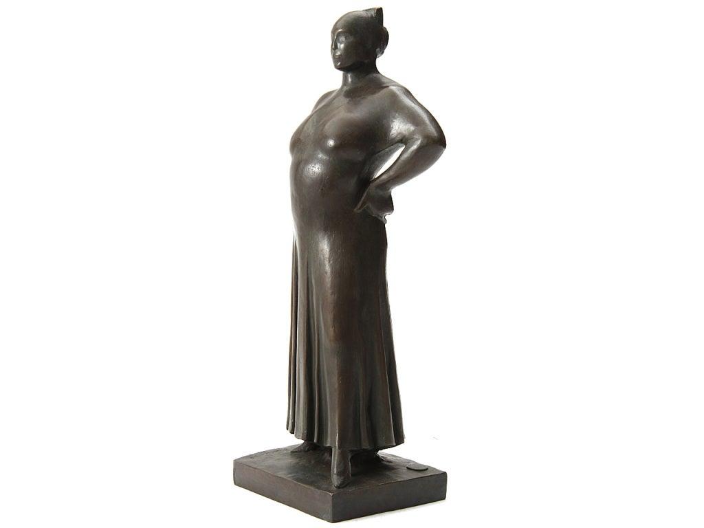 Art Deco 'Madame LaChaise' Sculpture For Sale