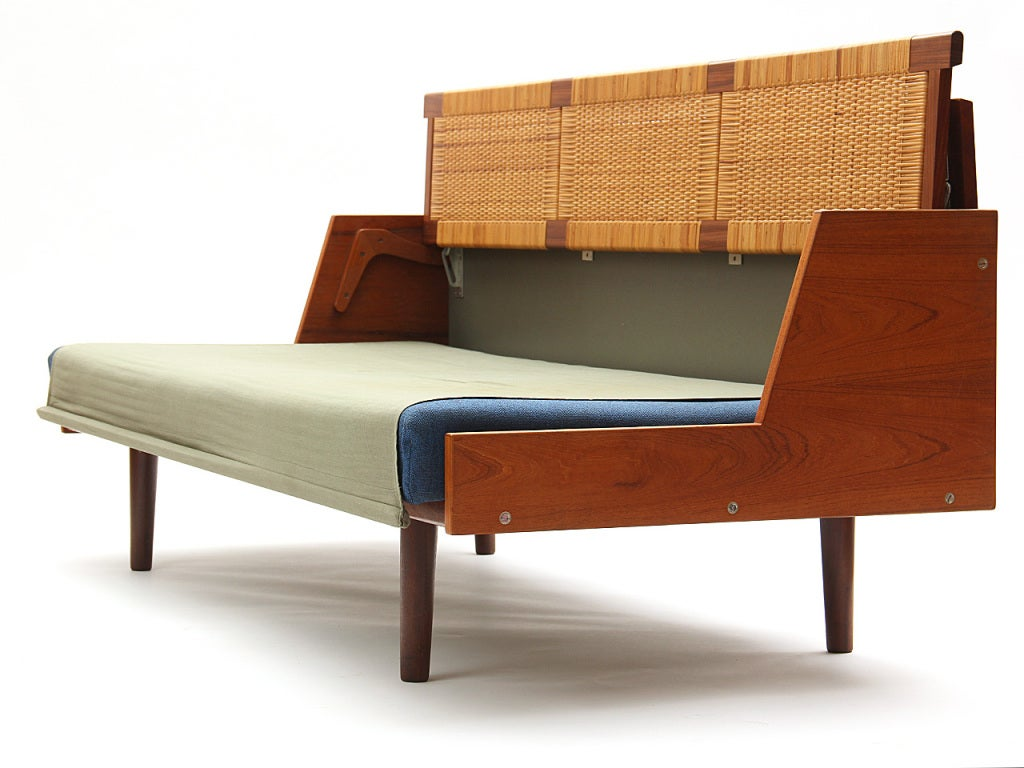sofa daybed by hans j wegner at 1stdibs. Black Bedroom Furniture Sets. Home Design Ideas